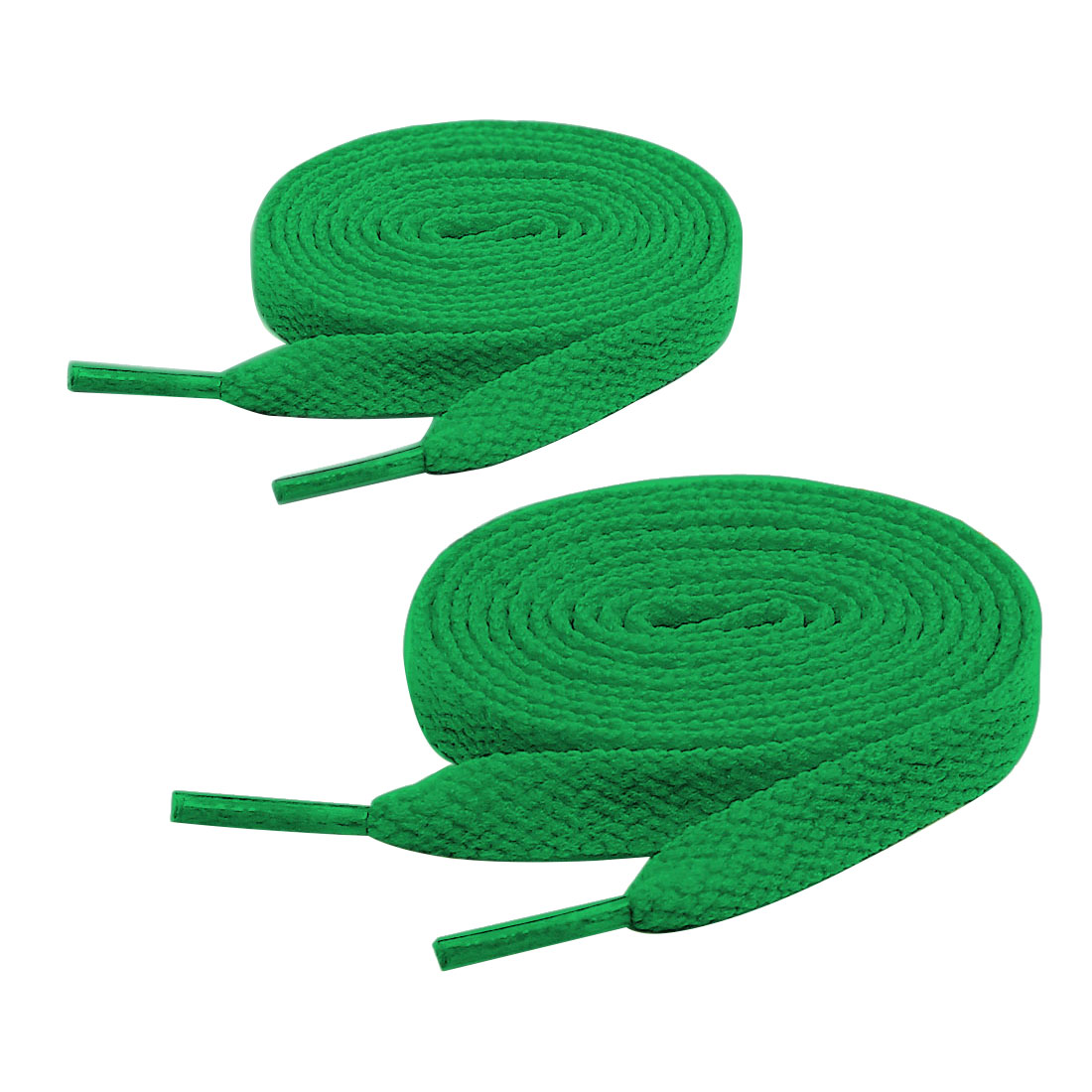 Unisex 2 Pairs Classic Flat Sports Shoes Trainers Shoelaces 123cm Length Green