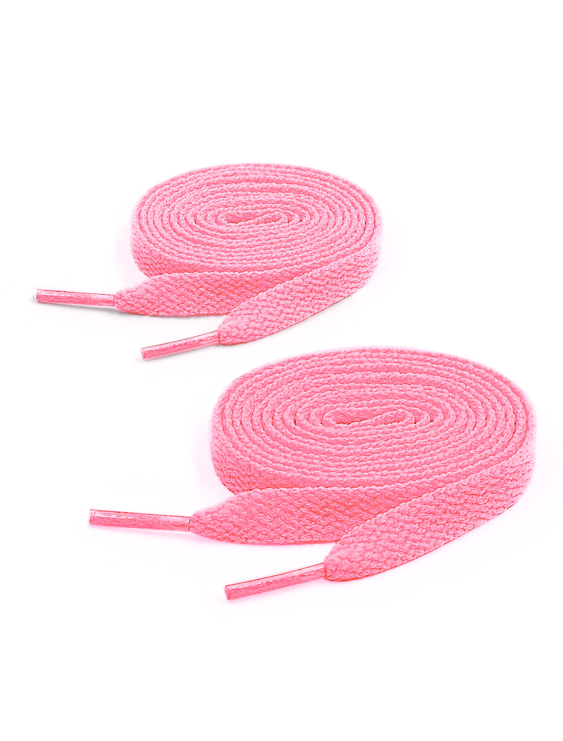 Unisex 123cm Length 2 Pairs Plastic Tip Flat Sneakers Walking shoes Laces Pink