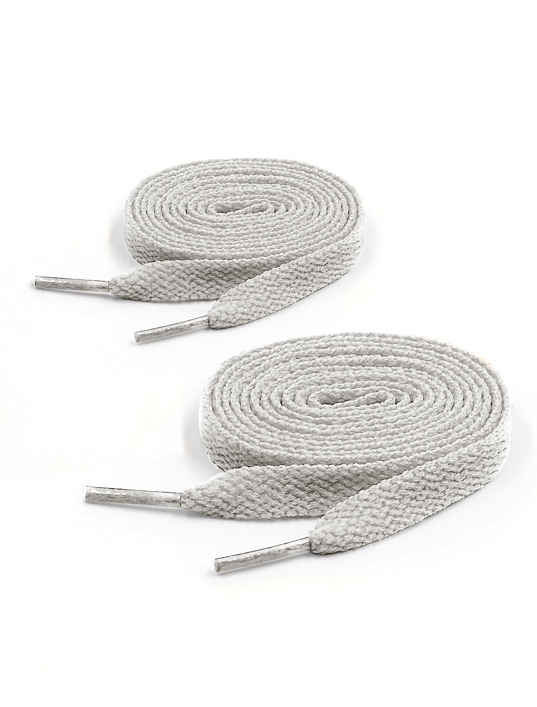 Unisex 123cm Length 2 Pairs Flat Running Shoe Laces Sports Shoestring Gray