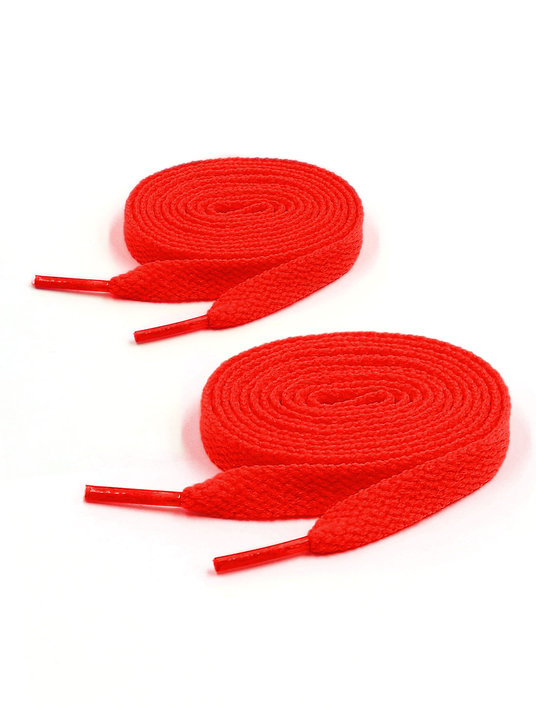 Unisex 123cm Length 2 Pairs Sneaker Flat Bootlaces Shoelaces Strings Laces Red