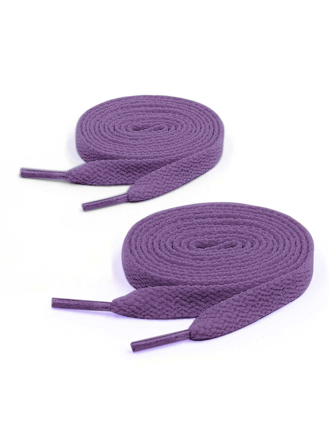Unisex 123cm Length 2 Pairs Casual Sneakers Plastic Tip Shoes Laces Purple