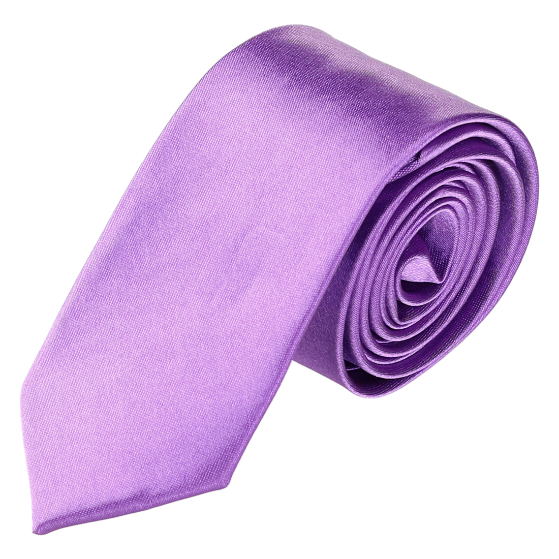 Men Wedding Party Clothes Decor Adjustable Neckwear Slim Neck Tie Purple
