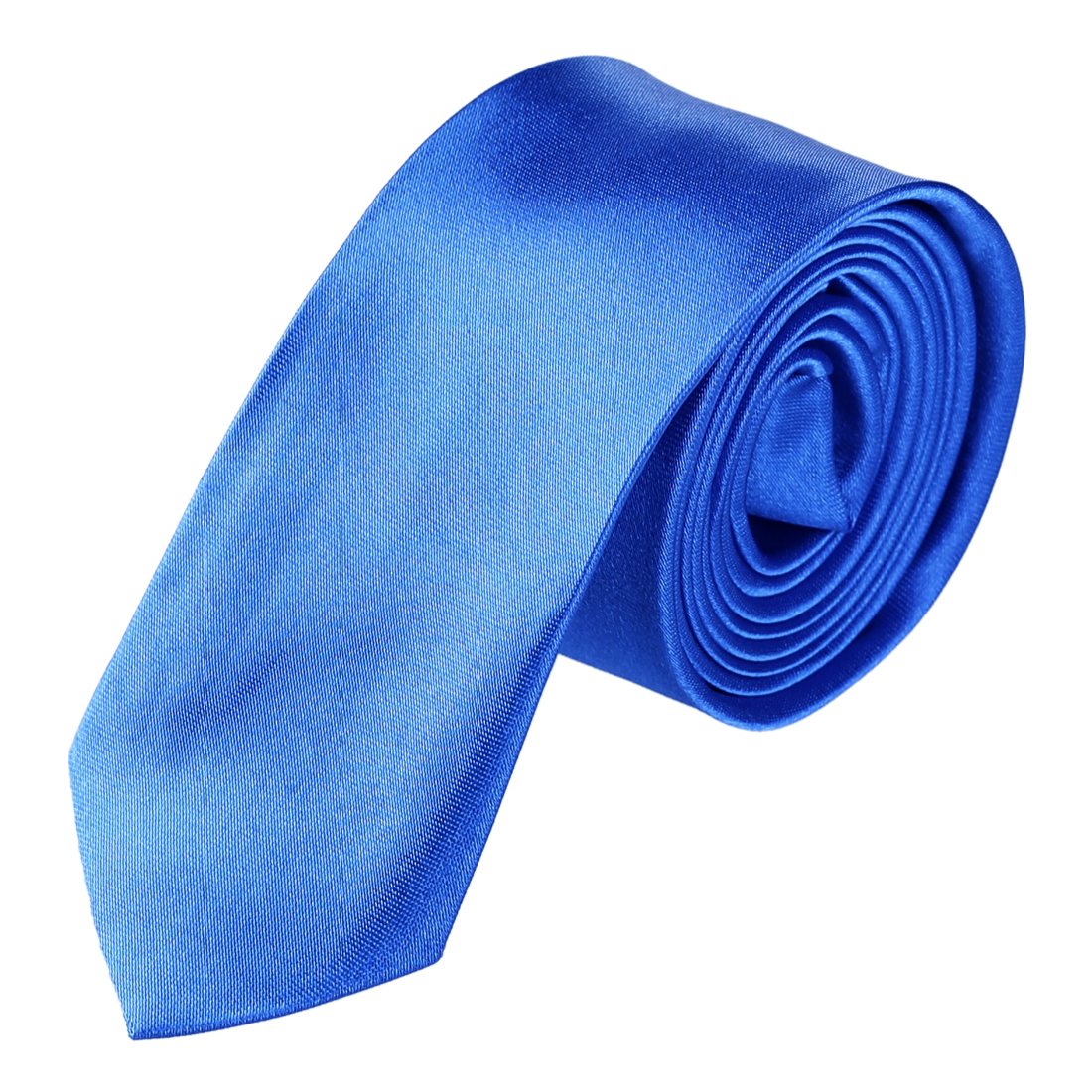 Men Adjustable Bussiness Party Suits Decor Neckwear Slim Necktie Blue