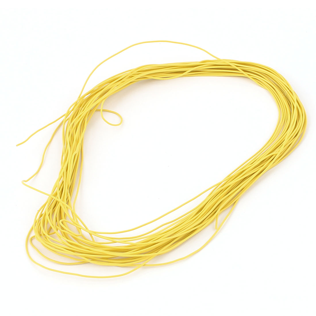 10M 30AWG Electric Copper Core Flexible Silicone Wire Cable Yellow