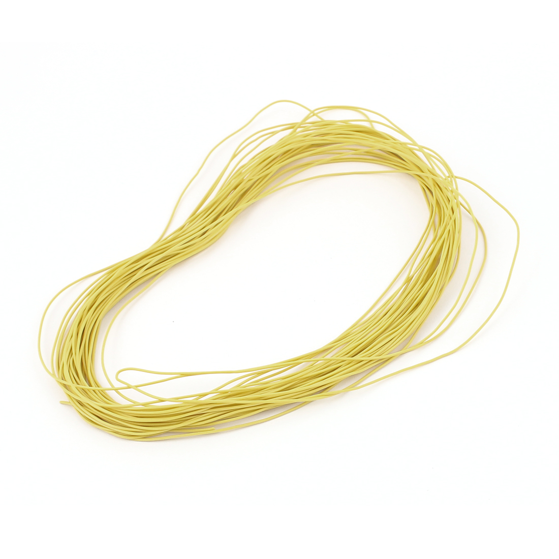 15M 30AWG Electric Copper Core Flexible Silicone Wire Cable Yellow