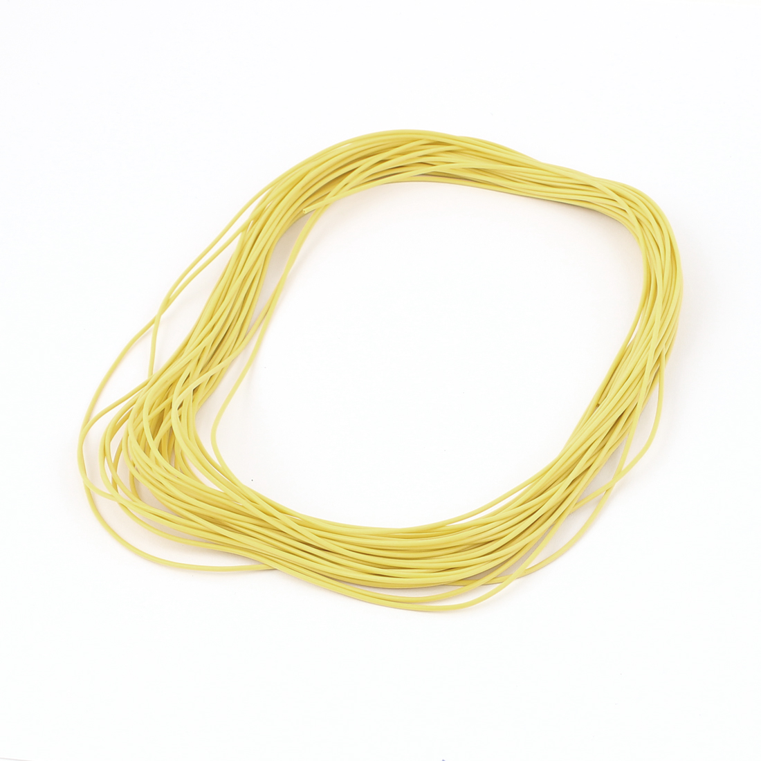 15M 28AWG Electric Copper Core Flexible Silicone Wire Cable Yellow