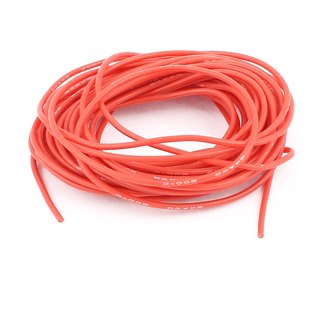 5M 24AWG Electric Copper Core Flexible Silicone Wire Cable Red