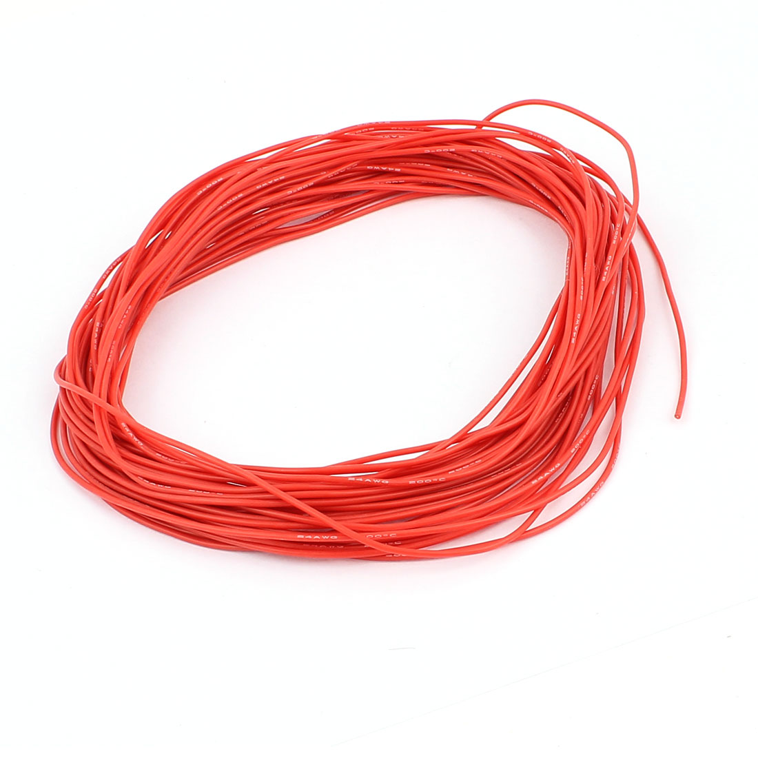 15M 24AWG Electric Copper Core Flexible Silicone Wire Cable Red