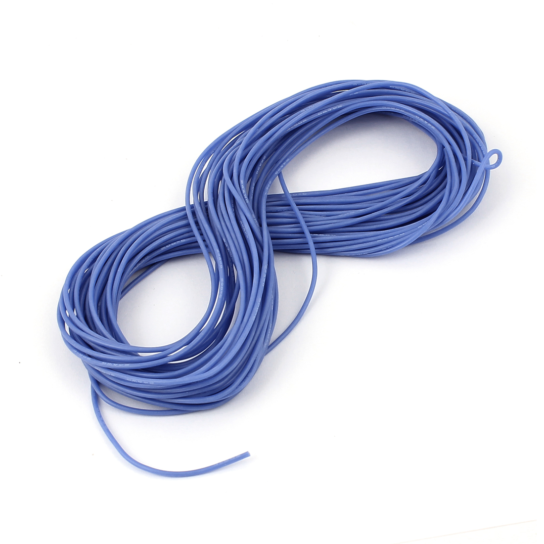 15M 24AWG Electric Copper Core Flexible Silicone Wire Cable Blue