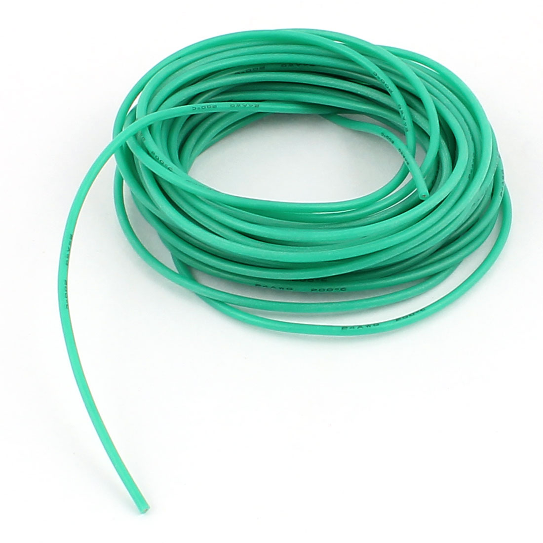 5M 24AWG Electric Copper Core Flexible Silicone Wire Cable Green