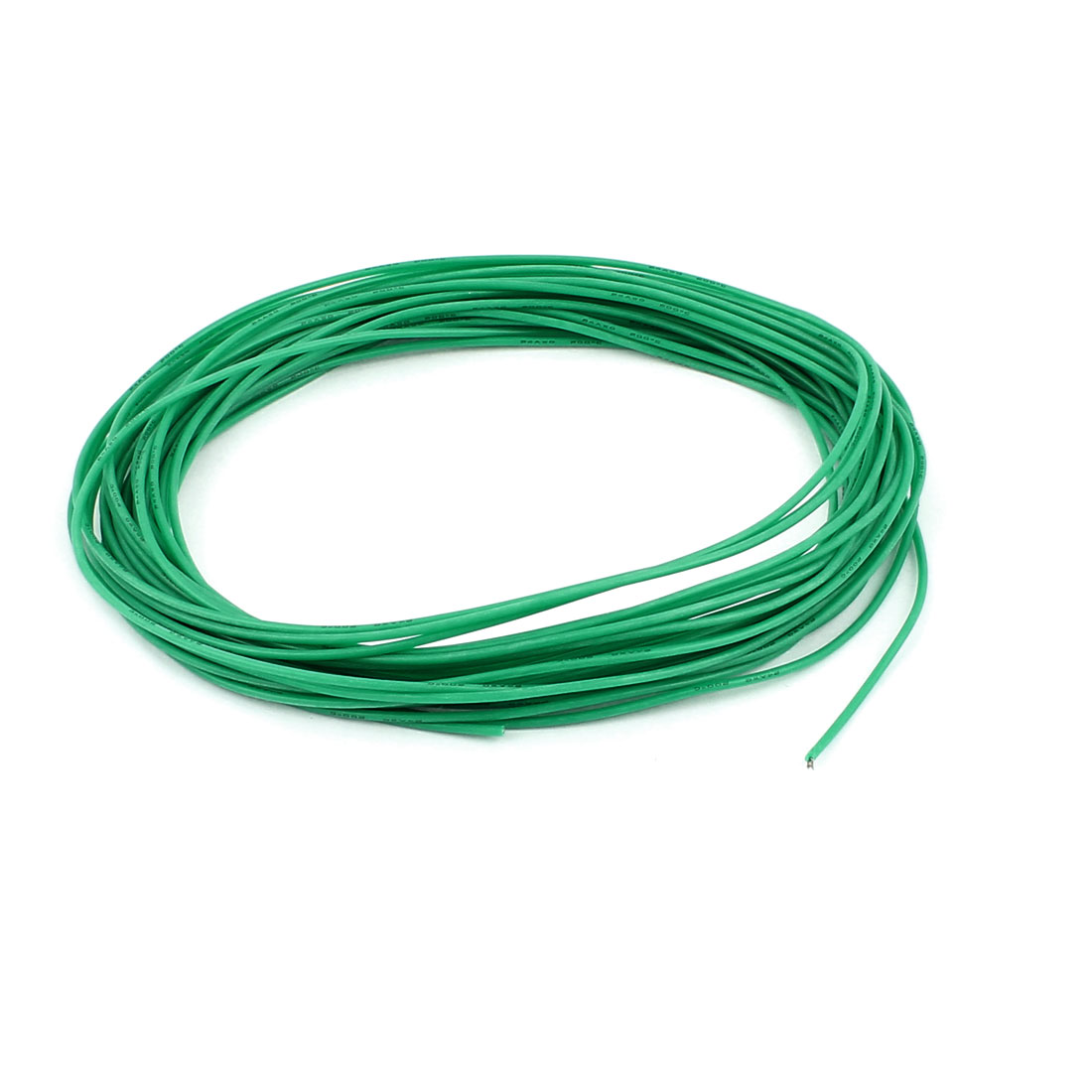 10M 24AWG Electric Copper Core Flexible Silicone Wire Cable Green
