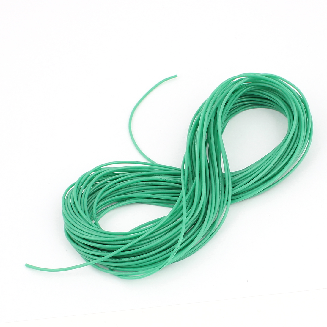 15M 24AWG Electric Copper Core Flexible Silicone Wire Cable Green