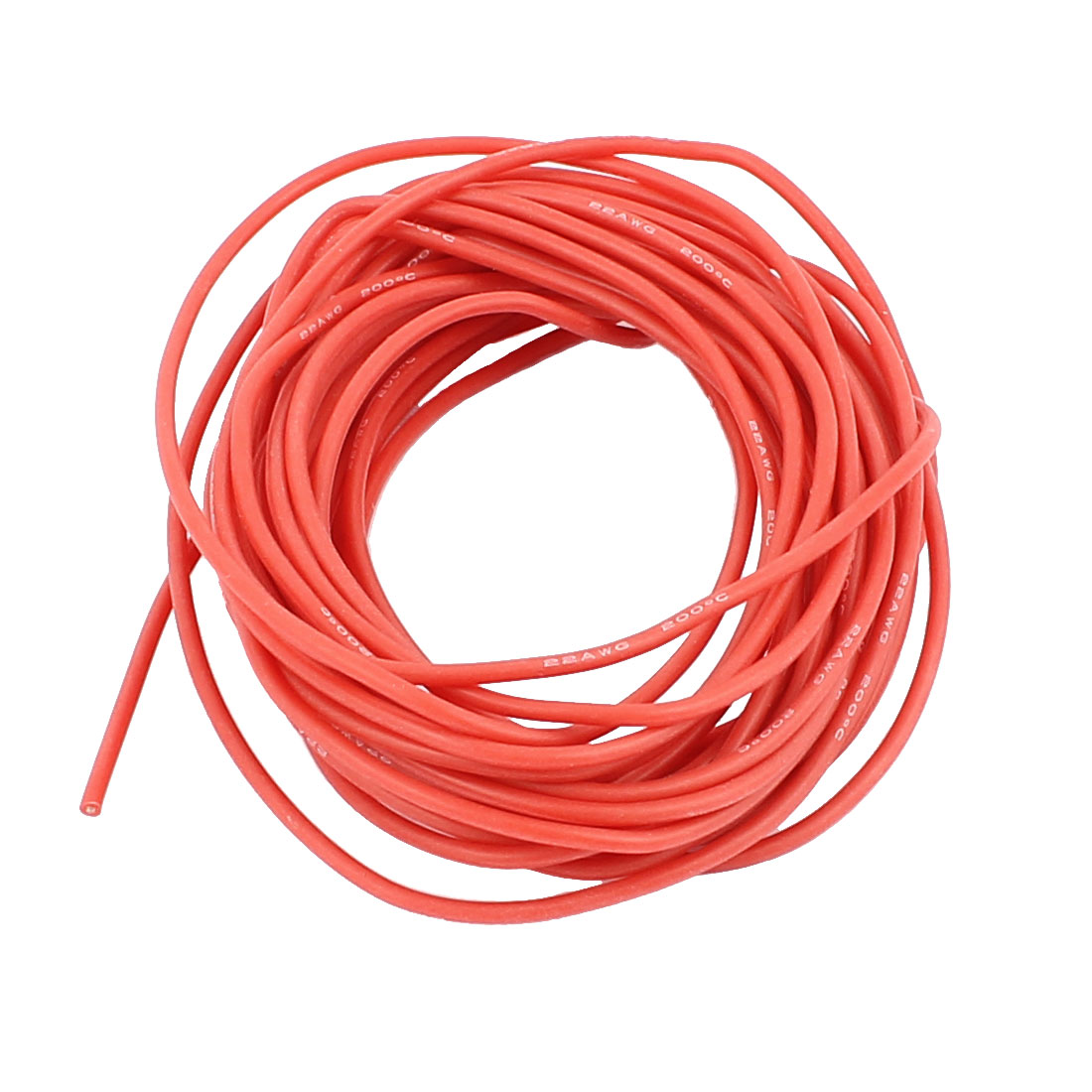 5M 22AWG Electric Copper Core Flexible Silicone Wire Cable Red