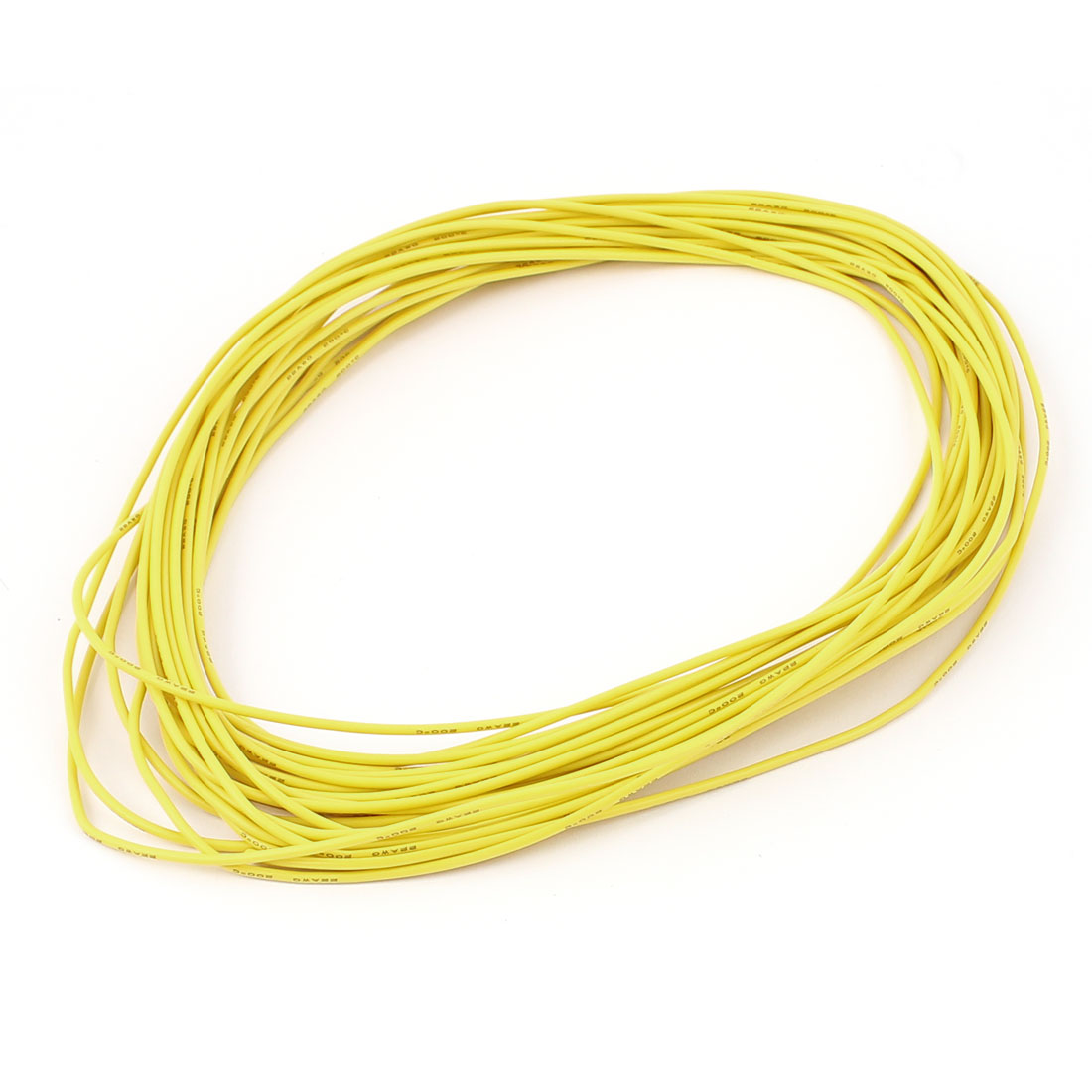 10M 22AWG Electric Copper Core Flexible Silicone Wire Cable Yellow