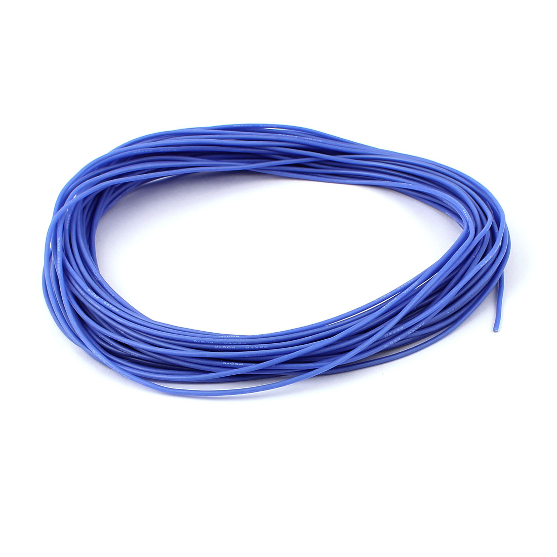 15M 22AWG Electric Copper Core Flexible Silicone Wire Cable Blue