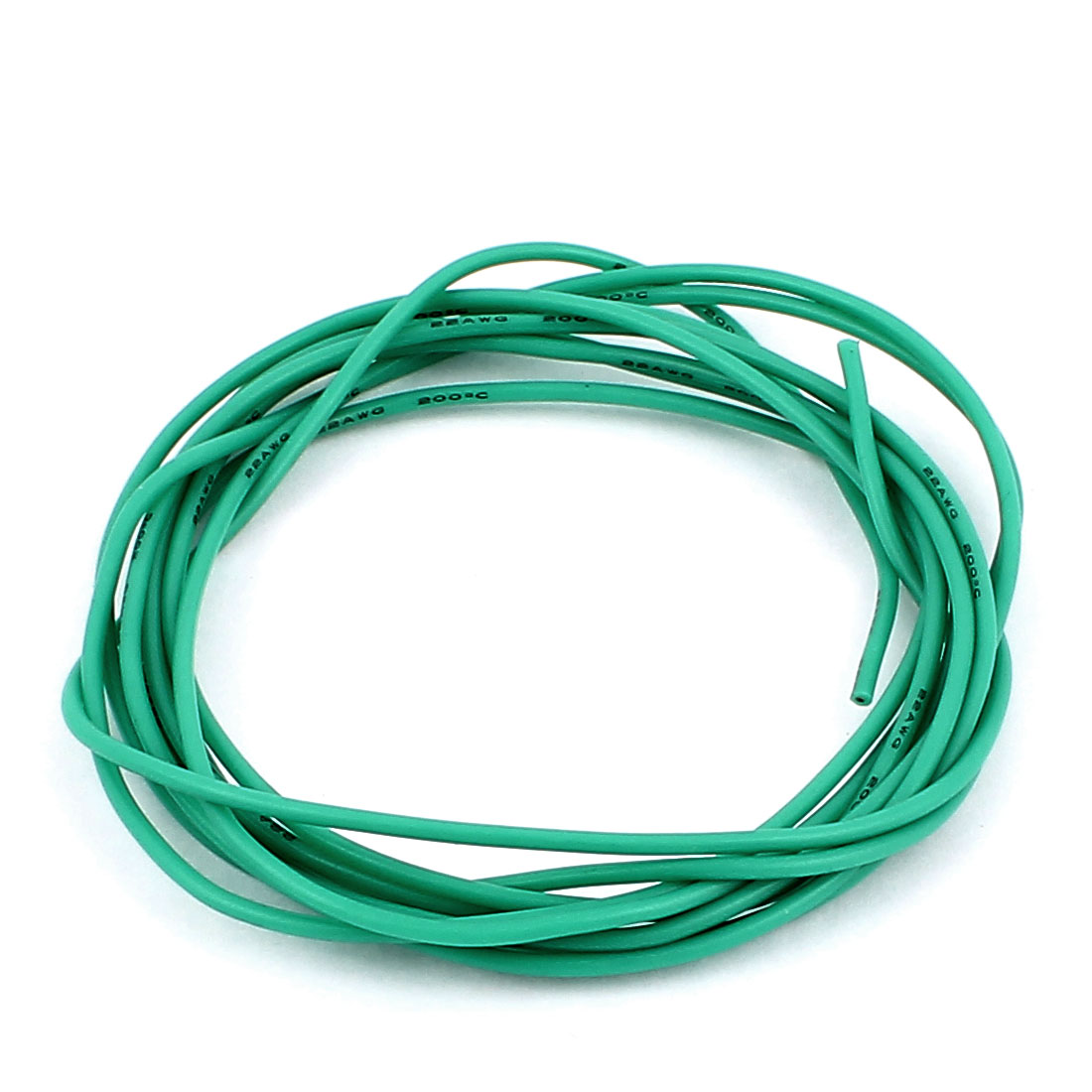 2M 6.6Ft 22AWG Electric Copper Core Flexible Silicone Wire Cable Green