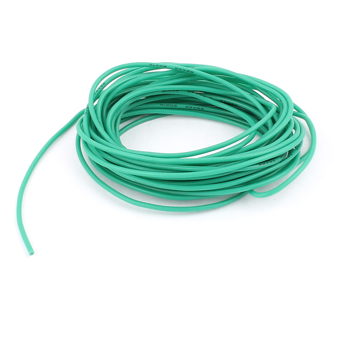 5M 22AWG Electric Copper Core Flexible Silicone Wire Cable Green