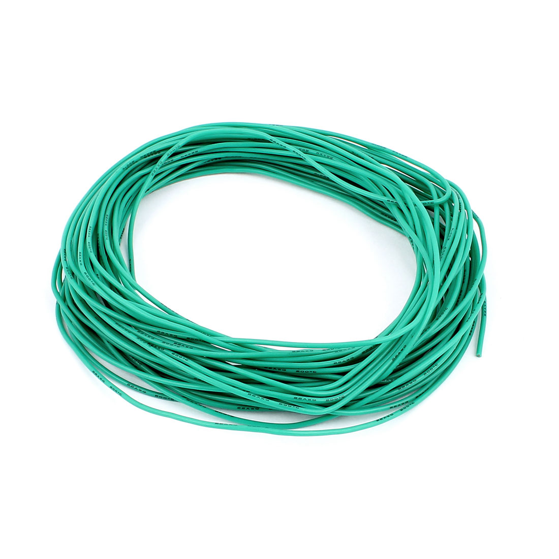 15M 22AWG Electric Copper Core Flexible Silicone Wire Cable Green