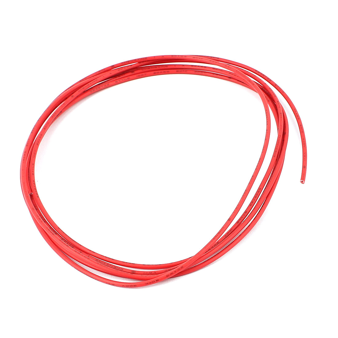 2M 20AWG Electric Insulated Copper Core Flexible PVC Wire Cable Red