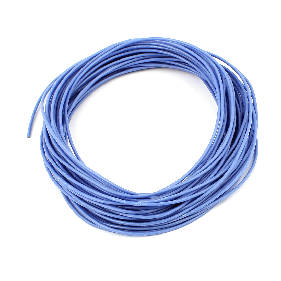 15M 20AWG Electric Copper Core Flexible Silicone Wire Cable Blue