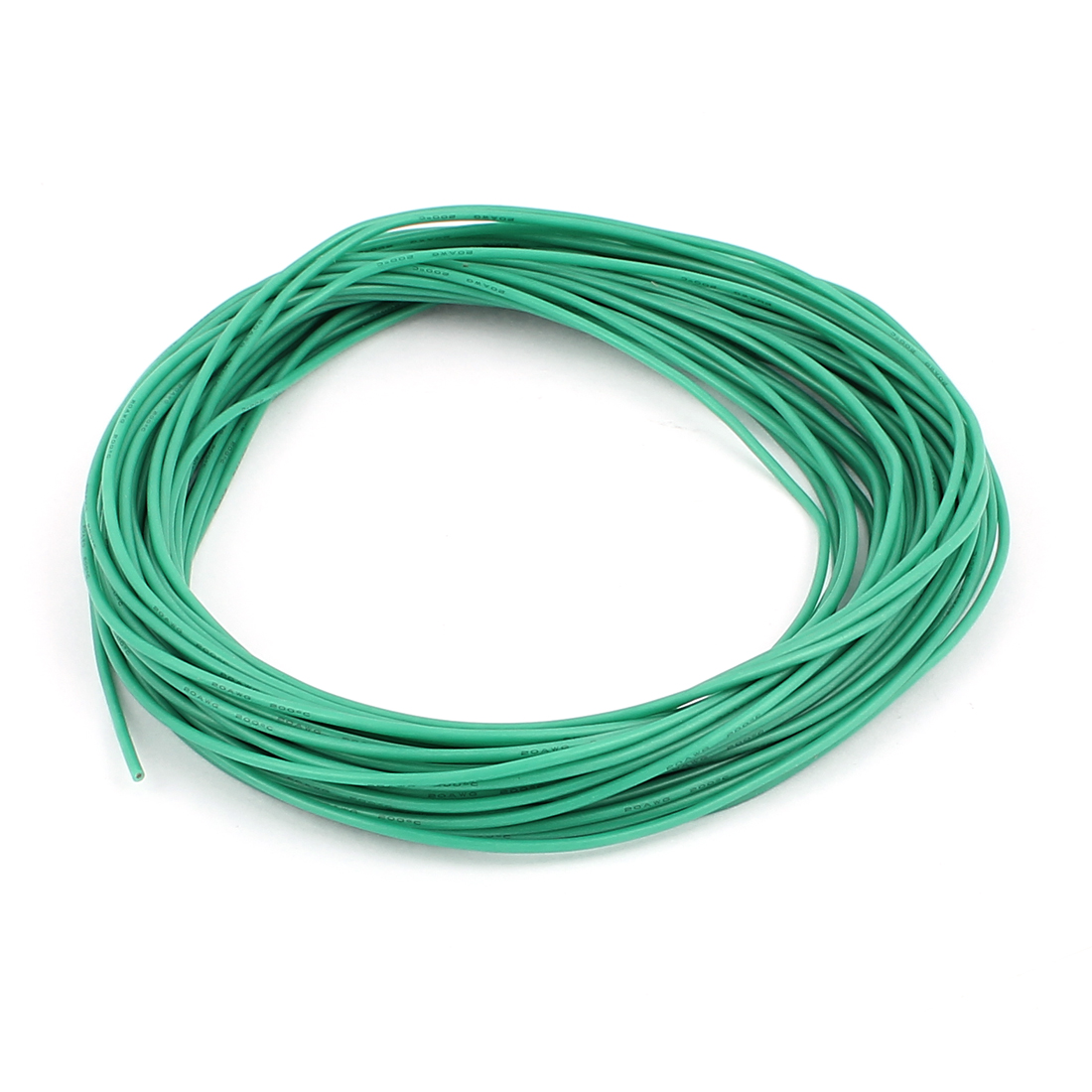 15M 20AWG Electric Copper Core Flexible Silicone Wire Cable Green