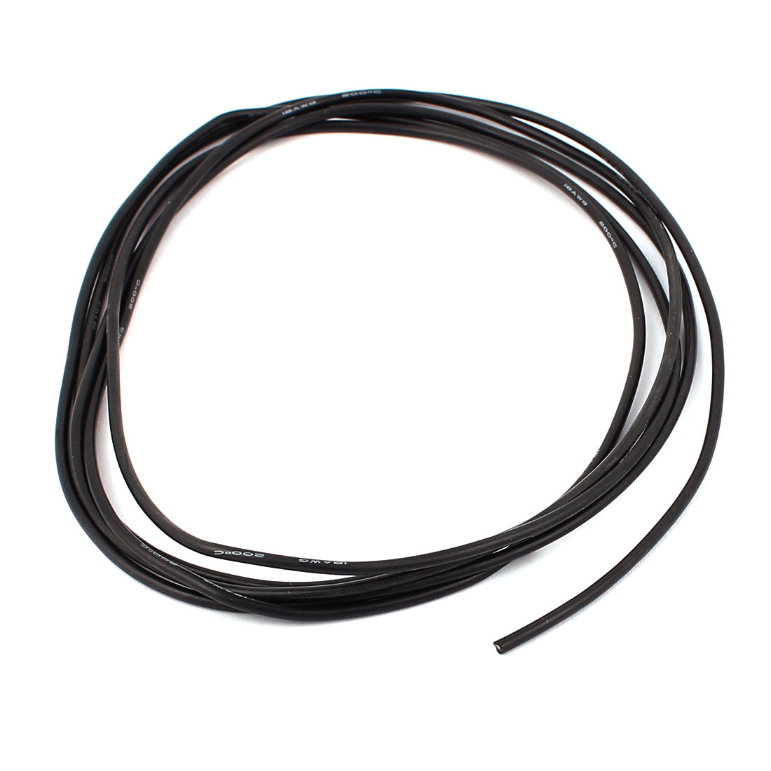 2M 18AWG Electric Copper Core Flexible Silicone Wire Cable Black