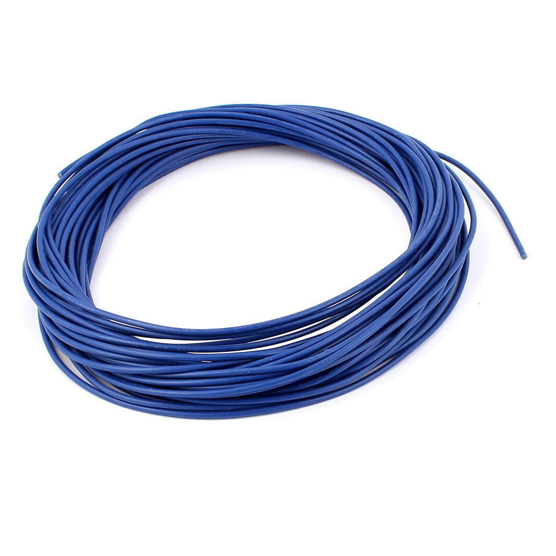15M 18AWG Electric Insulated Copper Core Flexible PVC Wire Cable Blue