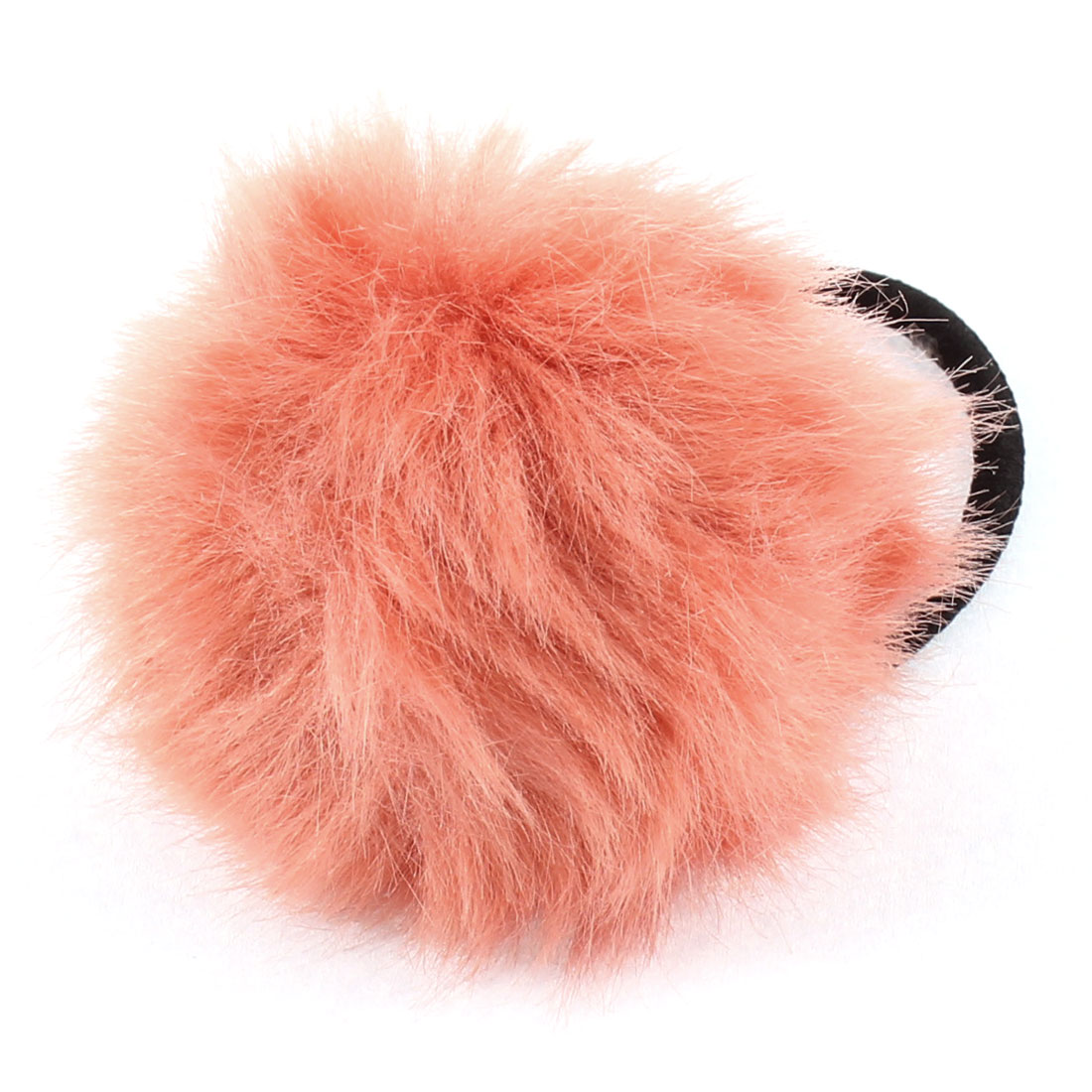 Lady Fluffy Faux Fur Decor Stretchy Band Hair Tie Ponytail Hairband