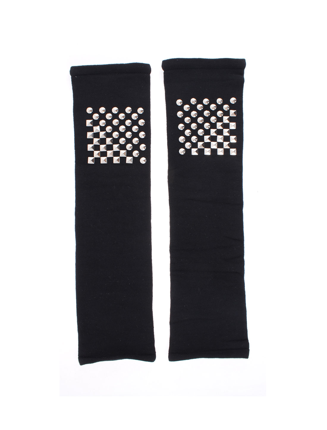 Pair Black Rivets Elastic Leg Sleeves Warmer Cycling Running CrossFit Light Compression Shin