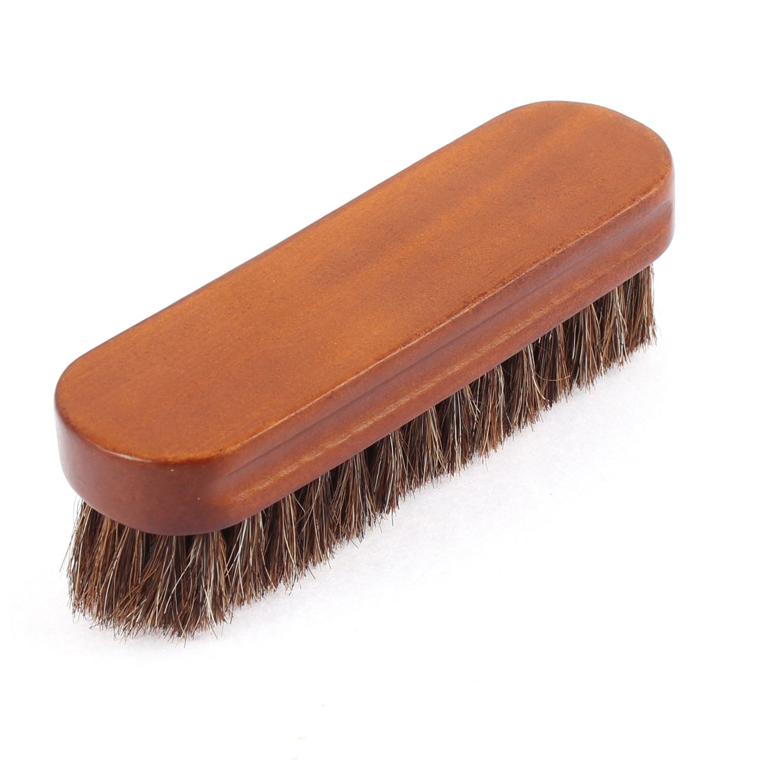 Wooden Handle 6 Rows Thick Horse Hair Brush Bristle Cleaning Tool Beige Brown