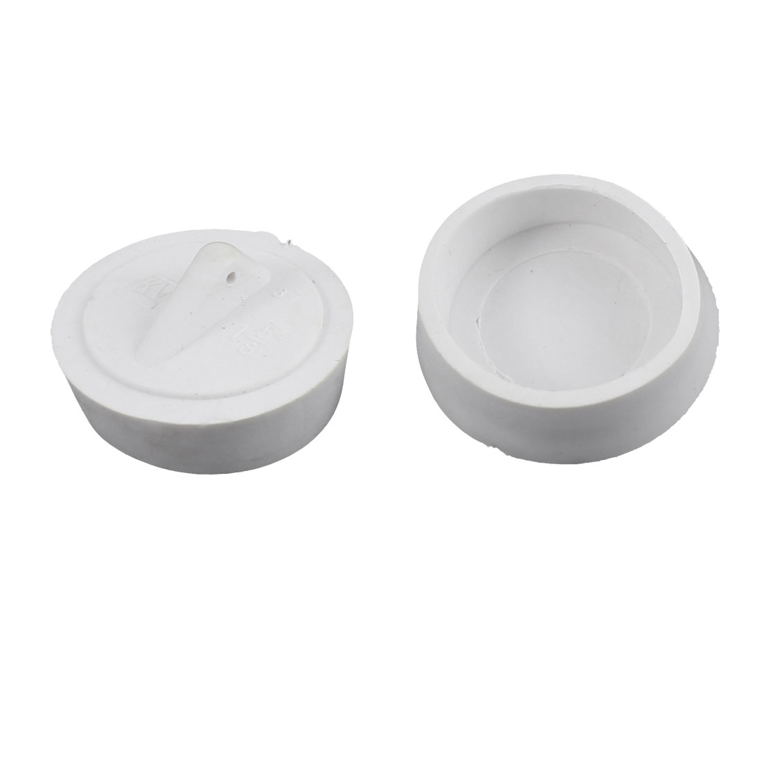 2Pcs Rubber Drain Stopper Bathtub Basin Sink Stopper Waste White