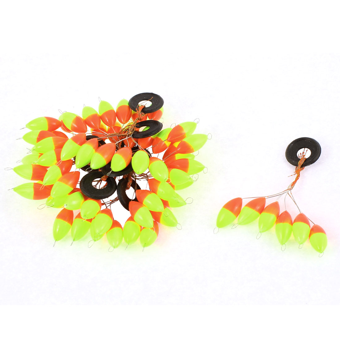 10Pcs Plastic Ring Olive Shape Float Fishing Bobber Stopper Space Bean