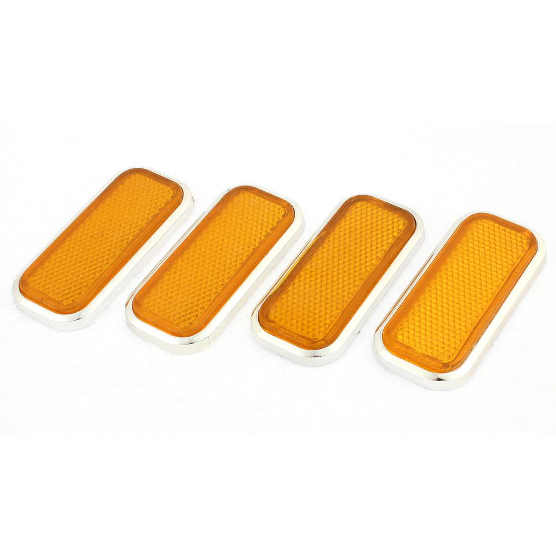 4Pcs Metal Adhesive Auto Car Plastic Square Reflective Reflector Sticker