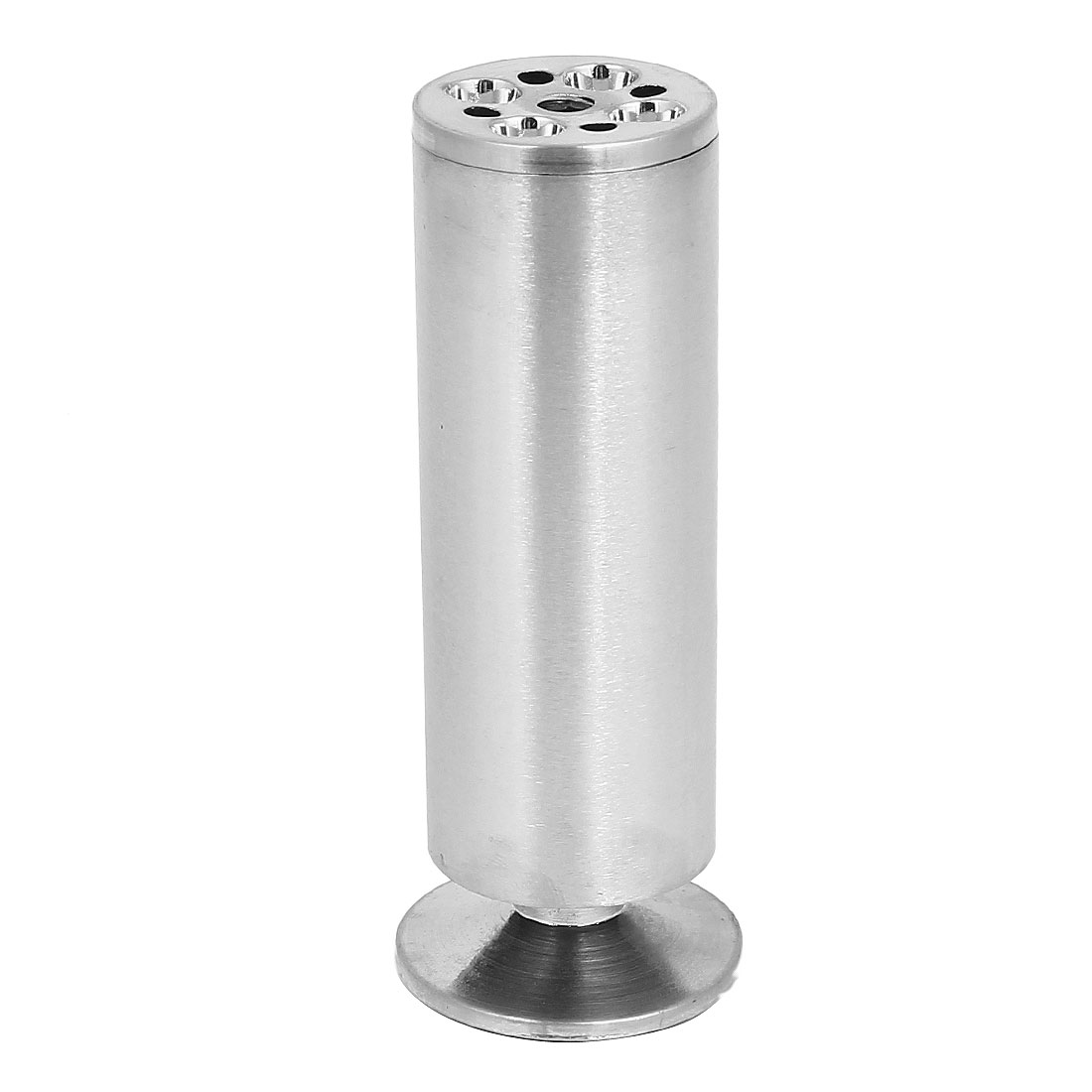 120mm Height Round Adjustable Kitchen Cabinet Furniture Sofa Leg Silver Tone