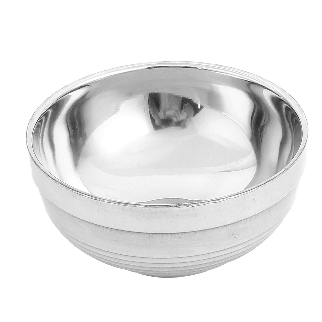 Home Kitchen Stainless Steel Dinner Rice Soup Noodle Food Bowl Silver Tone