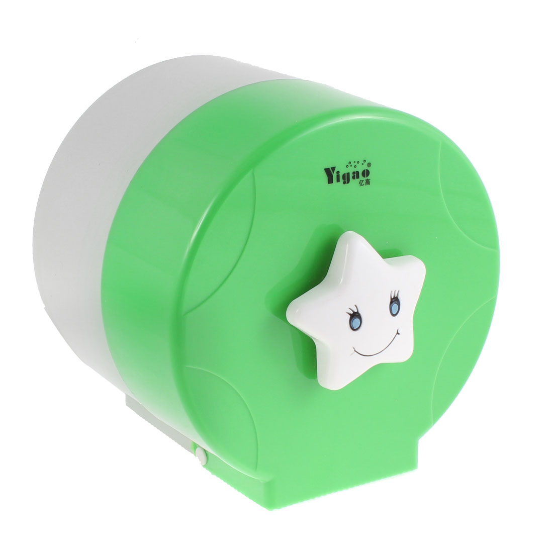 Plastic Cylindrical Design Toilet Paper Rack Tissue Holder Box Green