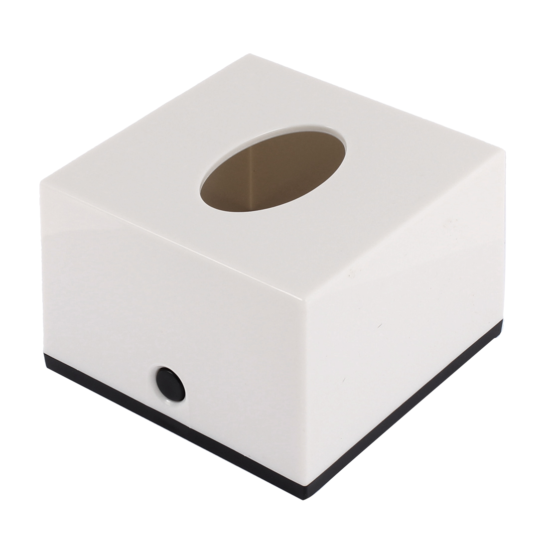 Home Hotel Bar Plastic Cube Paper Tissue Box Holder Container White