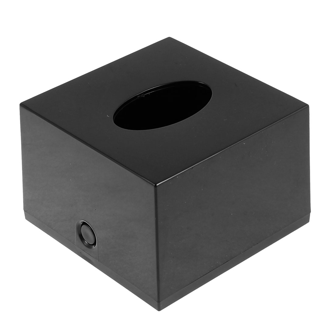 Household Bar Plastic Cube Paper Tissue Box Holder Container Black