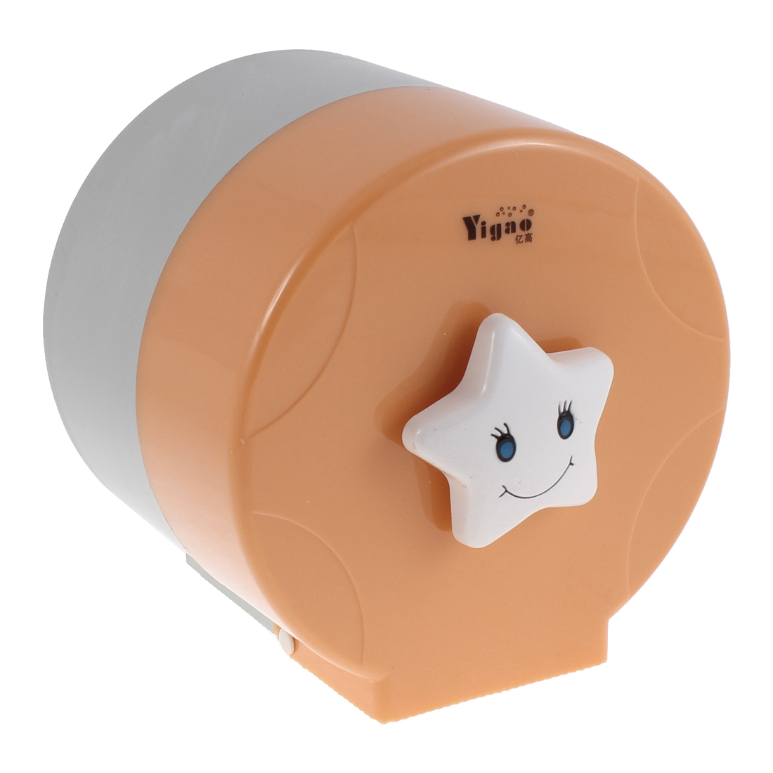 Cylindrical Design Toilet Paper Rack Tissue Holder Box Cover Orange