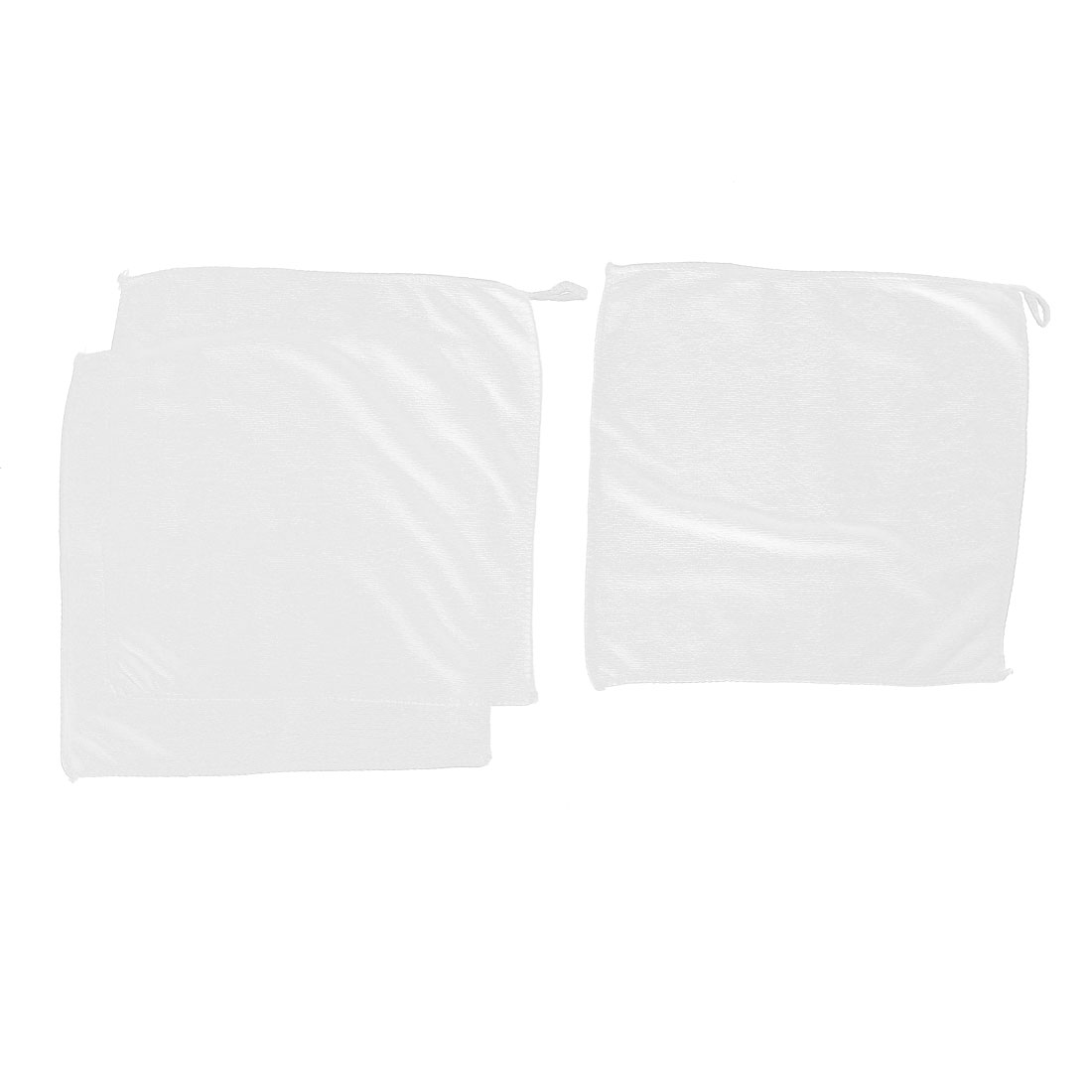 Home Water Absorbent Drying Towel Washcloth 30cm x 30cm White 3pcs