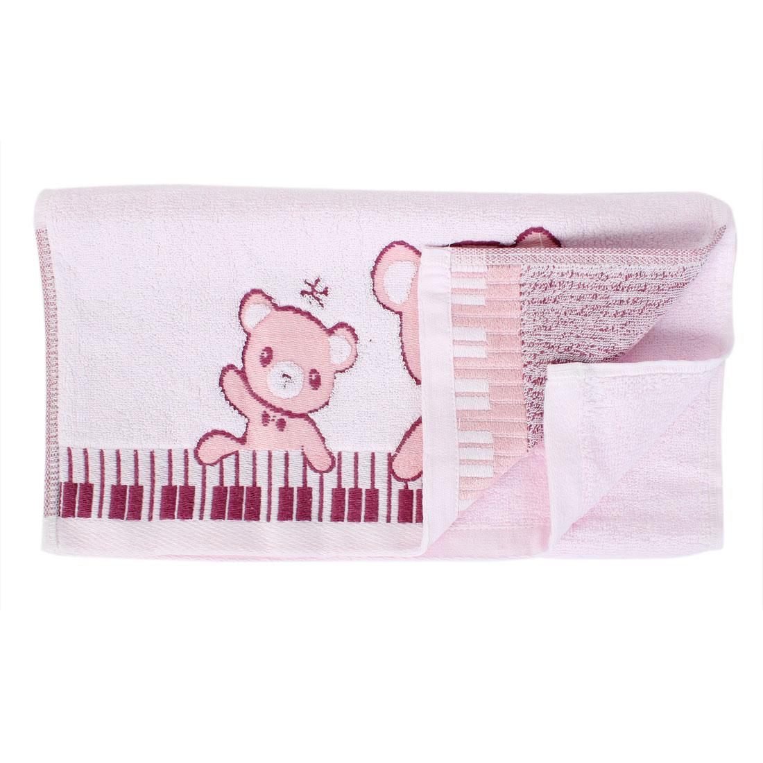 Cotton Blend Bear Printed Water Absorbent Shower Bath Towel 75cm x 34cm