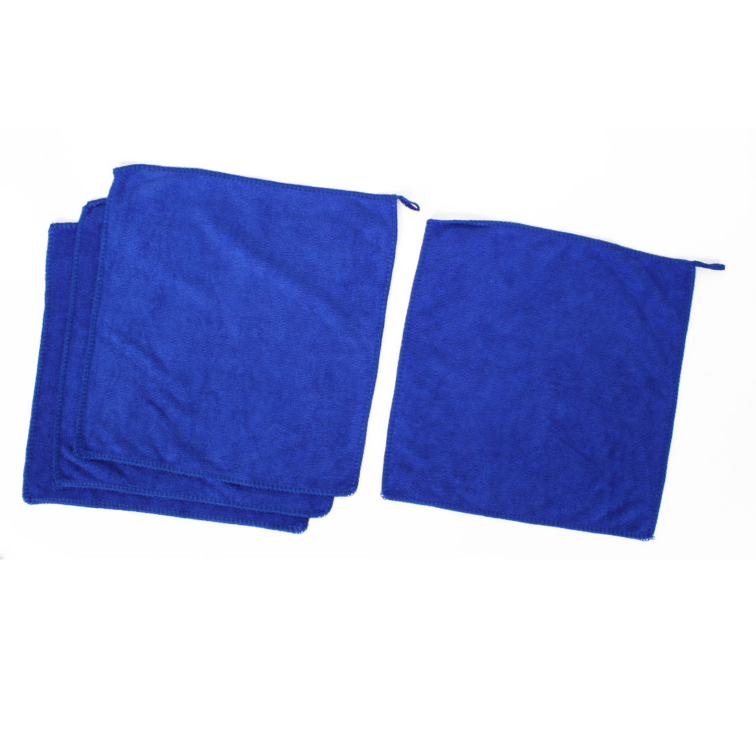 Microfiber Drying Towel Face Washing Cloth 30cm x 30cm Blue 4pcs