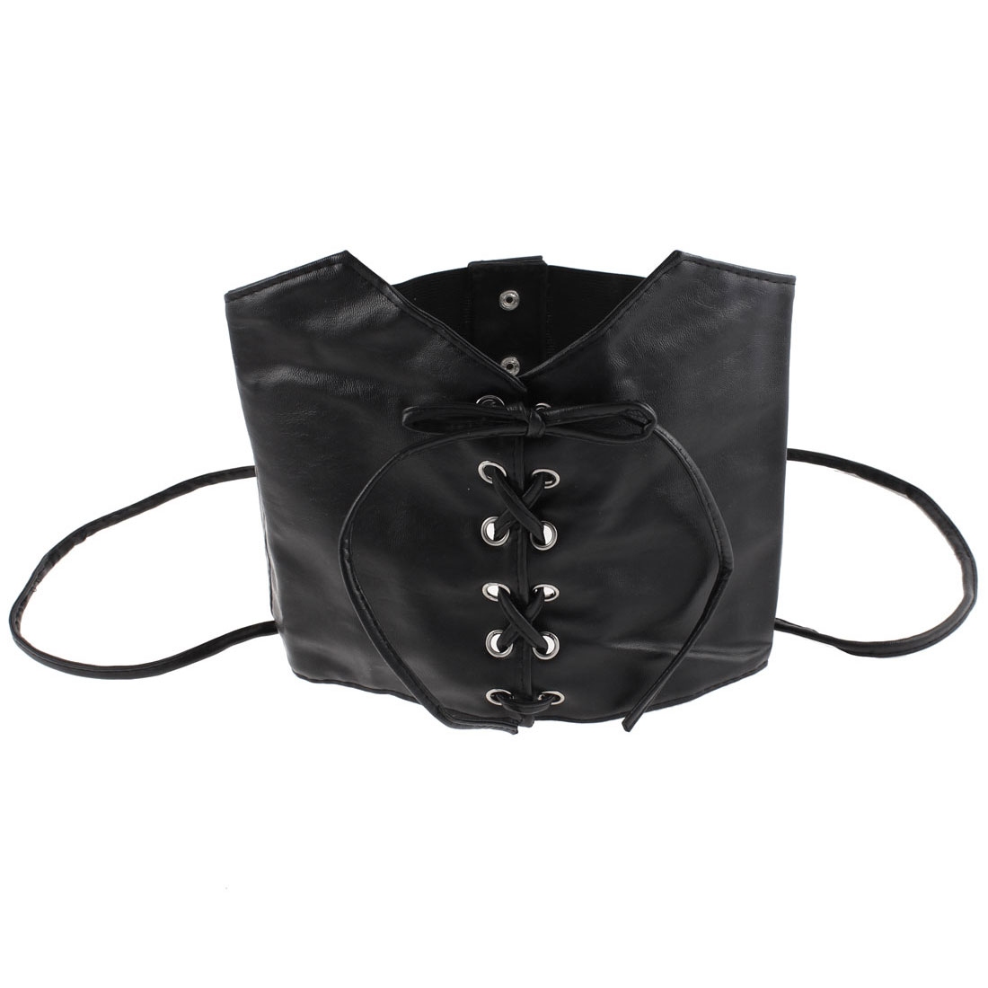 Lady Press Button 2 Straps Elastic Corset Waist Cinch Belt Band 74cm Length