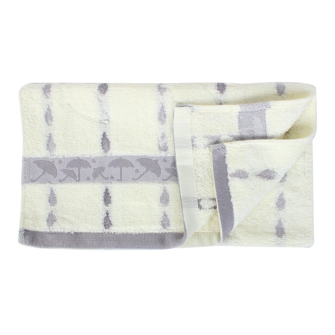 Terrycloth Drop Shape Drying Shower Bath Towel 72cm x 33cm Gray