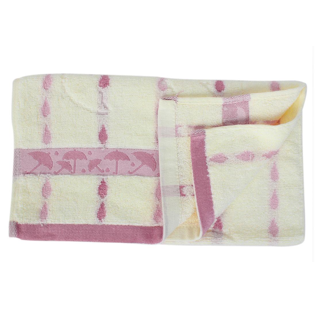 Terrycloth Drop Shape Washcloths Shower Bath Towel 72cm x 33cm Pink