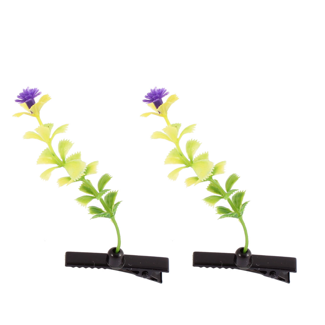 Lady Decor Performance Carnation Floral Antenna Hair Clips Purple 2pcs