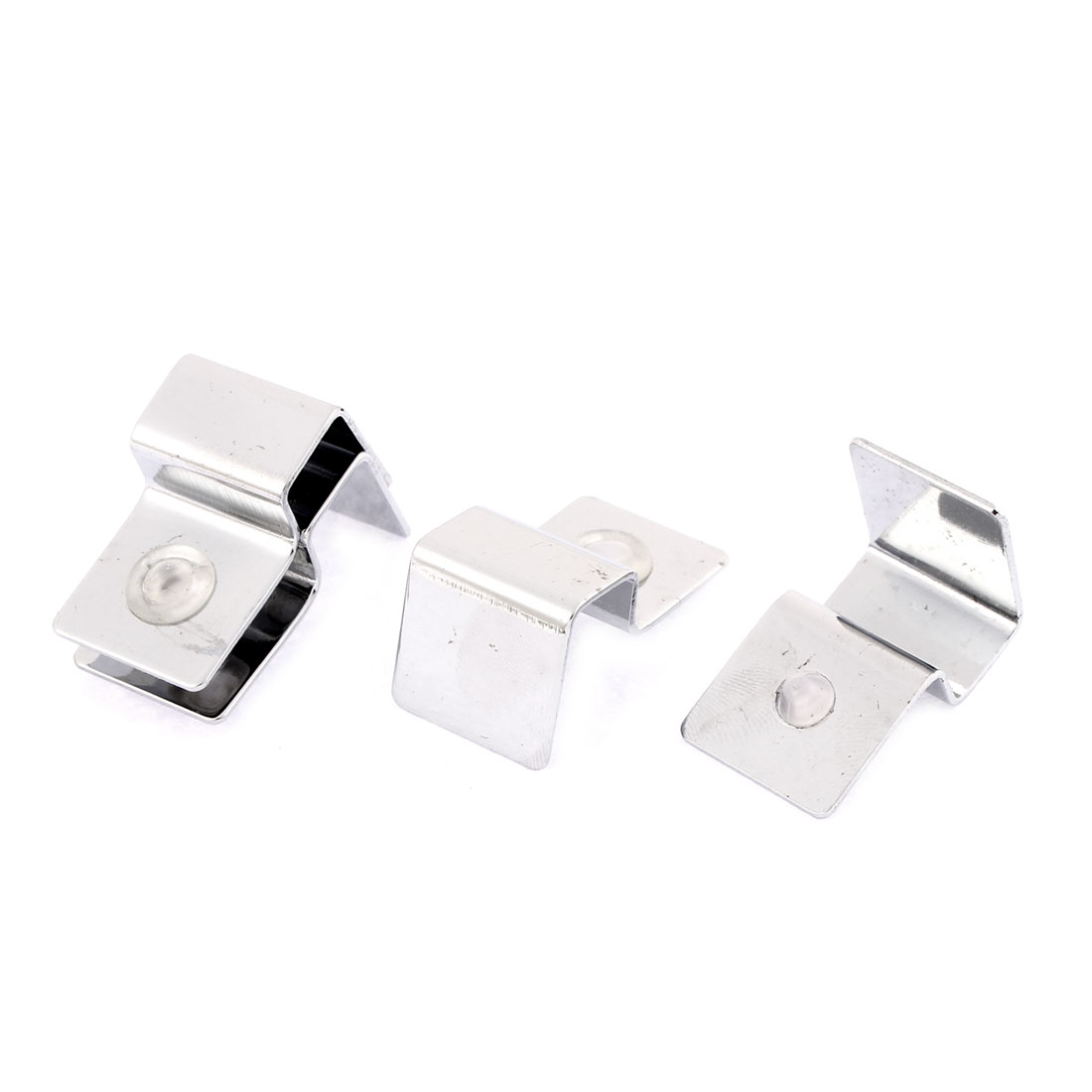 Aquarium Glass Cover Stainless Steel Thermo Brackets Clip Support Holder 4pcs