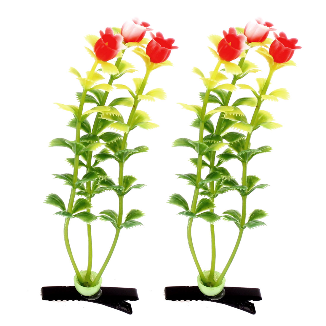 Children Adult Floral Antenna Hairpin Grass Flower Hair Clips 2 Pcs