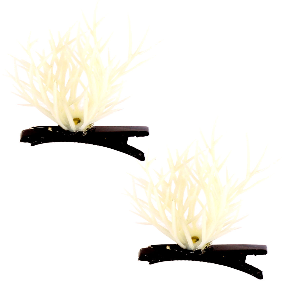 Adult Lady Headwear Plant Flower Antenna Hairpins Hair Clips 2pcs