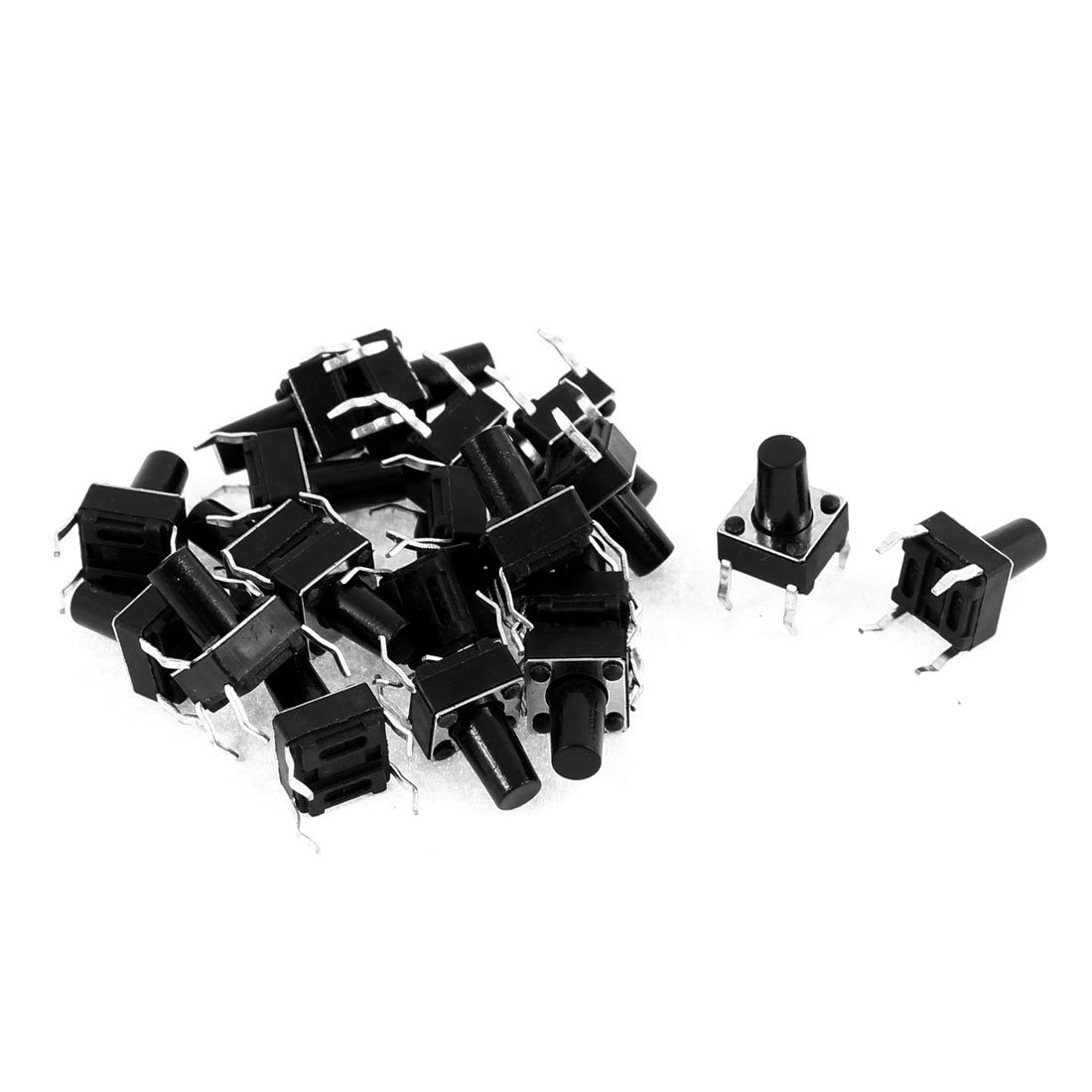 Tact 4 DIP Switch Plastic Momentary Tactile Push Button Black 6 x 6 x 9mm 20 Pcs